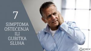 7 Simptopma oštećenja ili gubitka sluha